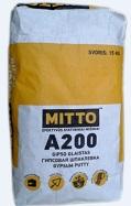 Gipsinis glaistas MITTO A200 15 kg Paveikslėlis 1 iš 1 236790000620