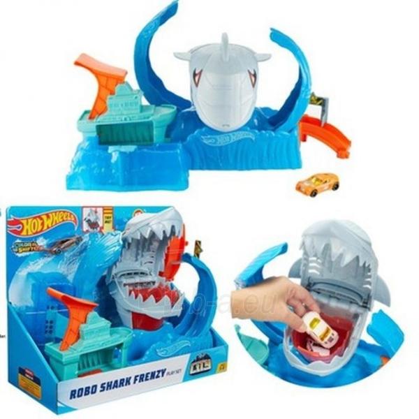 GJL12 Hot Wheels™ Robo Shark Frenzy Play Set MATTEL Paveikslėlis 4 iš 6 310820252908