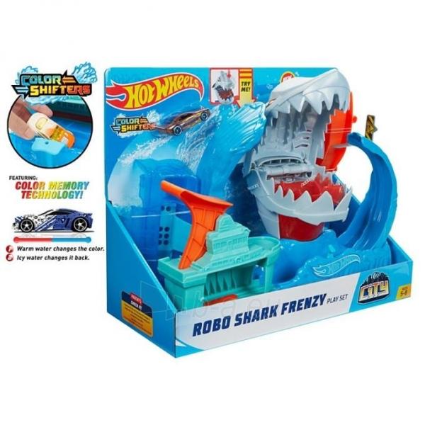 GJL12 Hot Wheels™ Robo Shark Frenzy Play Set MATTEL Paveikslėlis 6 iš 6 310820252908
