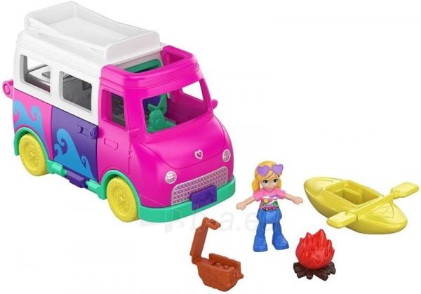 GKL49 Mattel Polly Pocket Pollyville Camper Van Vehicle Paveikslėlis 3 iš 4 310820230613