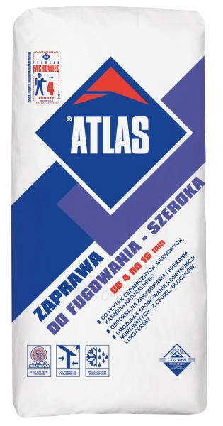 ATLAS GROUT FOR WIDE JOINTS - coarse aggregate cementitious grout (4 - 16 mm) grey 035 25kg Paveikslėlis 1 iš 1 236790000285