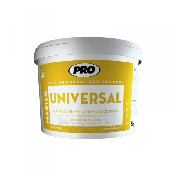 Glaistas UNIVERSAL visiems glaistymo sluoksniams 5 kg Paveikslėlis 1 iš 1 310820012168