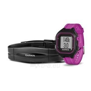 GPS navigacinė technika Garmin Forerunner 25 HR (Black-Violet) Paveikslėlis 1 iš 1 310820036069