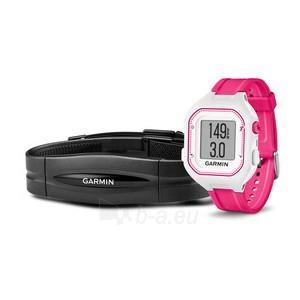 GPS navigacinė technika Garmin Forerunner 25 HR (White-Pink) Paveikslėlis 1 iš 1 310820036068