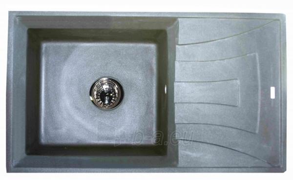 Granitinė plautuvė BRISA4L grey SU SIFONU Paveikslėlis 1 iš 2 271521000145