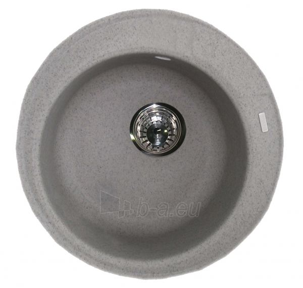 Granitinė plautuvė ROUND 2 grey spot su sifonu Paveikslėlis 1 iš 4 271521000191