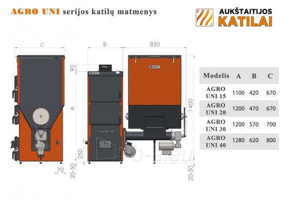 Granulinis katilas 30 kW, komplekte su 30 kW Zenono degikliu, 400 l bunkeriu Paveikslėlis 4 iš 6 310820254325