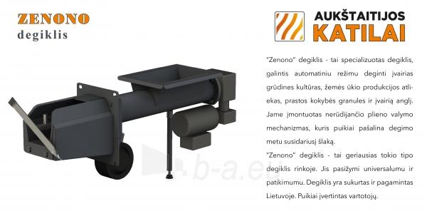 Granulinis katilas 30 kW, komplekte su 30 kW Zenono degikliu, 400 l bunkeriu Paveikslėlis 6 iš 6 310820254325