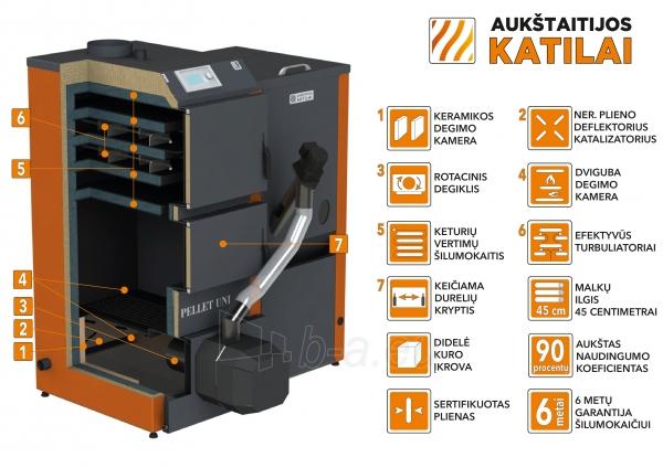 Granulinis katilas 36 kW komplekte su rotac. 36 kW degikliu, sraigtu, 800 l metaliniu bunkeriu Paveikslėlis 1 iš 6 310820254288