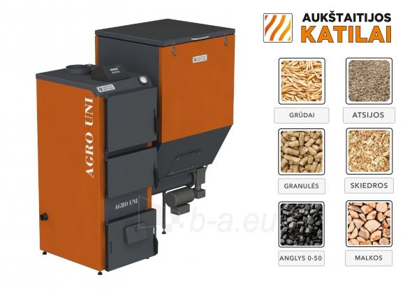 Granulinis katilas 40 kW, komplekte su 40 kWZenono degikliu, 400 l bunkeriu Paveikslėlis 2 iš 6 310820254327