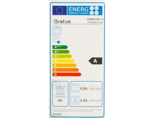 GRATUS VDEM6001S Gas oven Paveikslėlis 2 iš 5 250111000511