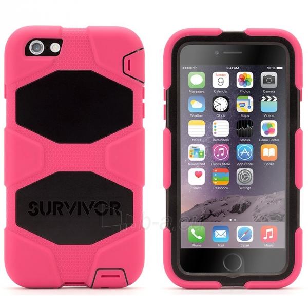 Griffin Survivor All Terrain telefono dėklas Apple iPhone 6 Plus telefonui (Rausvas) Paveikslėlis 1 iš 6 250232002784