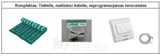 Grindų šildymo tinklelio PVMR.090150 komplektas su mechaniniu termostatu Paveikslėlis 2 iš 2 310820039216