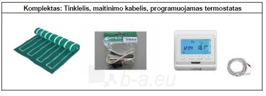 Grindų šildymo tinklelio PVMR.150350 komplektas su programuojamu termostatu Paveikslėlis 2 iš 2 310820039234