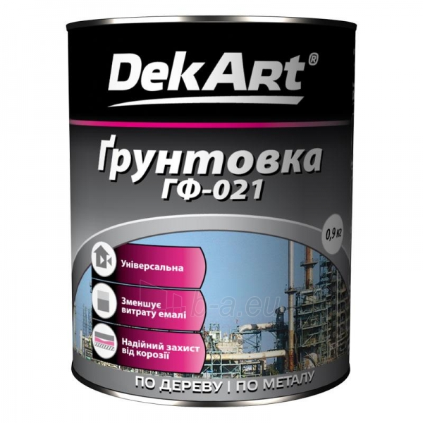 Primer GF-021 DekART pilkas 0,9 kg Paveikslėlis 1 iš 1 236580000350