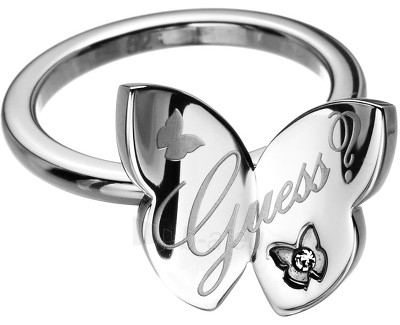 Guess Fashion žiedas su drugeliu USR11103 (Dydis: 54 mm) Paveikslėlis 1 iš 1 310820023404