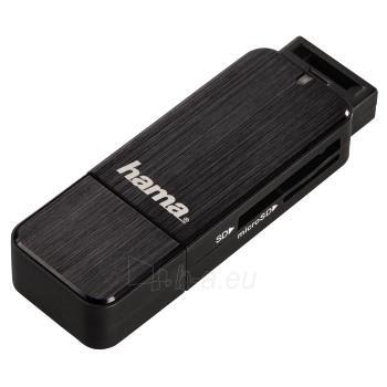 HAMA USB 3.0 SD/microSD Card Reader, bla Paveikslėlis 1 iš 1 250232001779