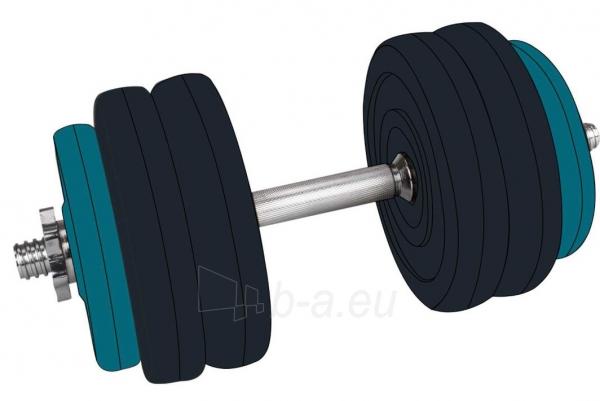 Hantelis keič. svorio 15kg 42DF sintetinis Paveikslėlis 1 iš 1 310820253942