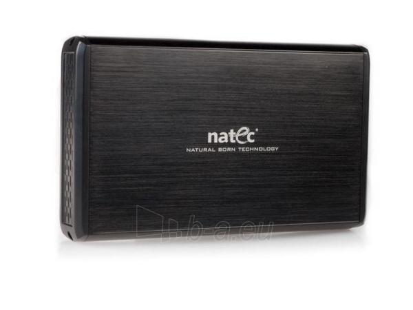 HDD korpusas Natec RHINO USB2.0, 3.5 SATA/IDE, Juodas aliuminis Paveikslėlis 1 iš 6 250255521717