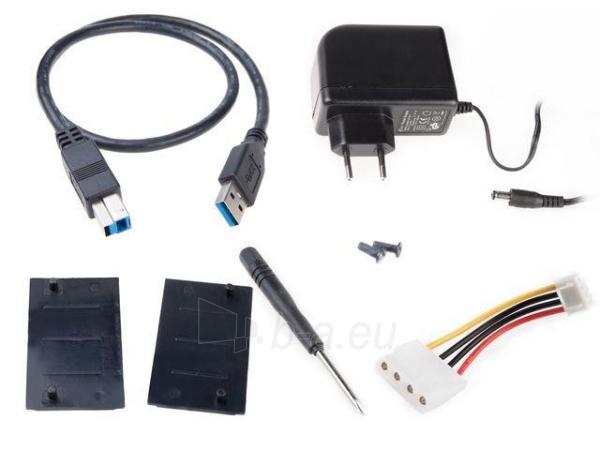 HDD korpusas Natec RHINO USB2.0, 3.5 SATA/IDE, Juodas aliuminis Paveikslėlis 6 iš 6 250255521717