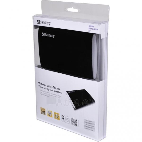 HDD korpusas Sandberg 2.5, SATA, USB3.0 Paveikslėlis 2 iš 2 250255521720