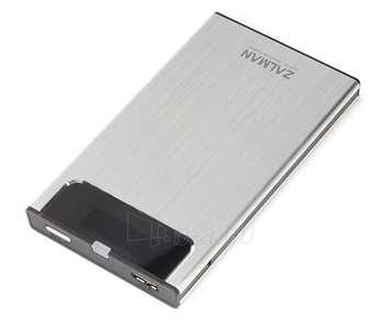 ZALMAN HE130 2.5'' S-ATA->USB3.0 SILVER Paveikslėlis 1 iš 1 250255600164