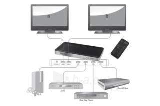 HDMI perjungėjas Digitus Matrix Switch, 4 x 2-portai Paveikslėlis 1 iš 3 250255081530