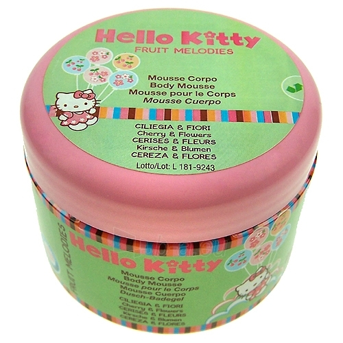 Hello Kitty Fruit Body Cream Cherry & Flowers Cosmetic 250ml Paveikslėlis 1 iš 1 250850200014
