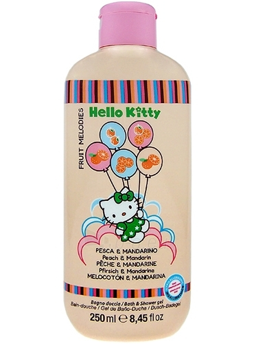 Hello Kitty Fruit Melodies Bath & Shower gel, Peach & Mandarin Cosmetic 250ml Paveikslėlis 1 iš 1 30024900061