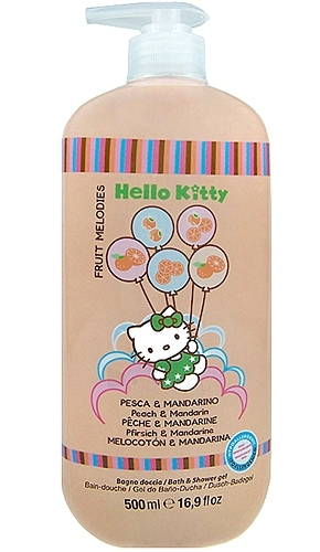 Hello Kitty Fruit Melodies Bath & Shower gel, Peach & Mandarin Cosmetic 500ml Paveikslėlis 1 iš 1 30024900069