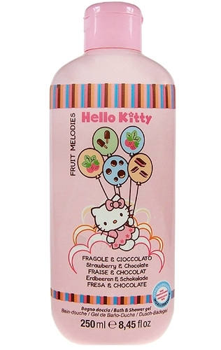 Hello Kitty Fruit Melodies Bath & Shower gel, Strawbery & Chocolate Cosmetic 250ml Paveikslėlis 1 iš 1 30024900063