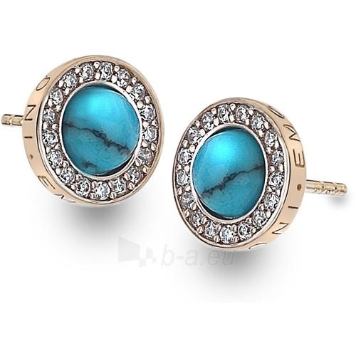 Hot Diamonds auskarai Hot Diamonds Emozioni Giove Turquoise Rose DE463 Paveikslėlis 1 iš 2 310820025860
