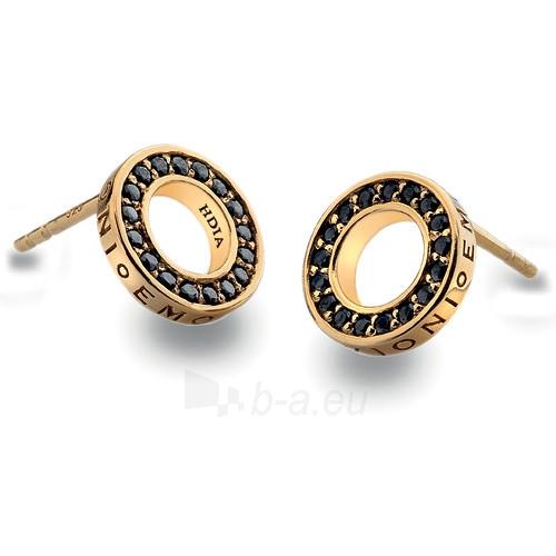 Hot Diamonds sidabriniai auskarai Hot Diamonds Emozioni Nero Saturno Gold DE407 Paveikslėlis 1 iš 1 310820024479