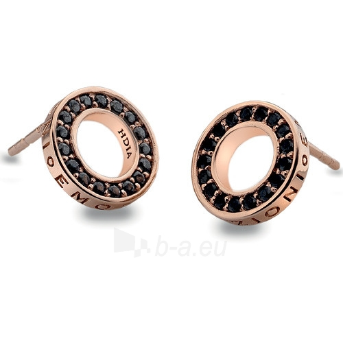 Hot Diamonds sidabriniai earrings Hot Diamonds Emozioni Nero Saturno Rose Gold DE406 Paveikslėlis 1 iš 1 310820024478