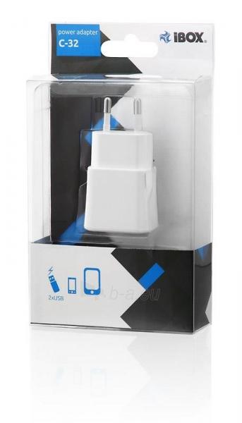 I-BOX C-32 kroviklis DUAL USB, 2A Paveikslėlis 2 iš 2 310820011310