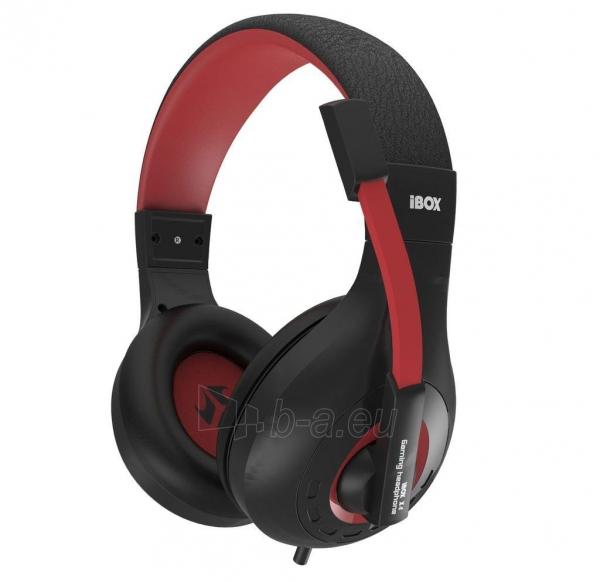 I-BOX X4 BLACK Žaidimų ausinės Paveikslėlis 1 iš 7 250255090738