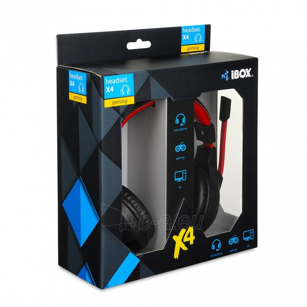 I-BOX X4 BLACK Žaidimų ausinės Paveikslėlis 7 iš 7 250255090738
