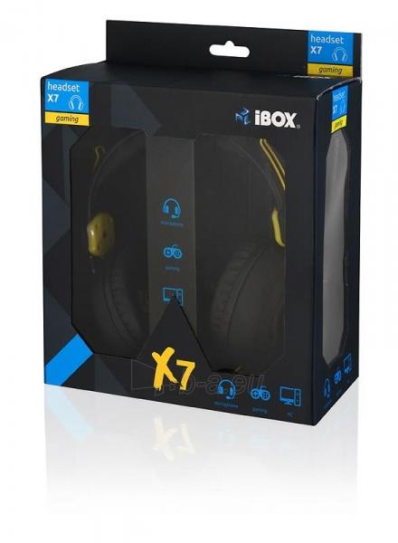 I-BOX X7 BLACK Žaidimų ausinės Paveikslėlis 2 iš 9 250255090739