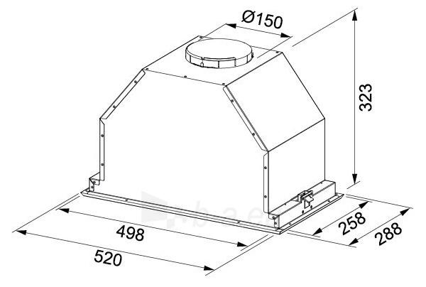 Į spintelę montuojamas gartraukis FRANKE INCA LUX FBI 537 XS LED1 (305.0518.705) Paveikslėlis 2 iš 2 310820188771