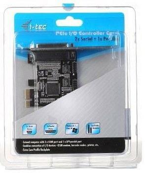 i-Tec PCIe I/O Controller Card 2x Serial Rs232 (COM)  1x Parallel- PCI Express Paveikslėlis 5 iš 5 250255081458