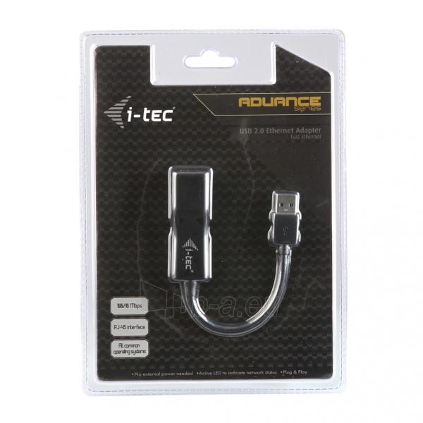 i-tec USB2.0 Fast Ethernet Adapteris tinklo plokštė USB 10/100 Mbps Paveikslėlis 3 iš 3 250255081462