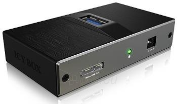 Icy Box 4 Port USB 3.0 Hub With USB Charge Port, Black Paveikslėlis 2 iš 2 250255081479