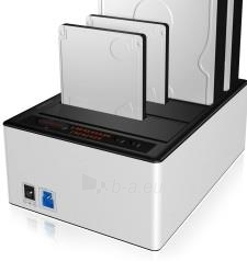 Icy Box Docking and Clone Station for 4x 2.5 & 3,5 HDD SATA, USB 3.0, JBOD Paveikslėlis 1 iš 1 250255081553