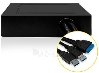 Icy Box Internal 3,5 Adapter With 4xUSB 3.0, Black Paveikslėlis 3 iš 4 250255081482