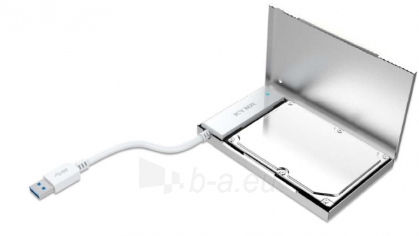 IcyBox 2.5 SATA SSD/HDD to USB 3.0 Cable Adapter with Aluminium Box, Silver Paveikslėlis 2 iš 2 250255081539