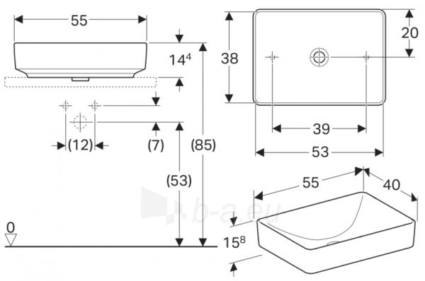 IFO praustuvas pastatomas VariForm 55 cm,stačiakampis,baltas Paveikslėlis 2 iš 2 310820169766