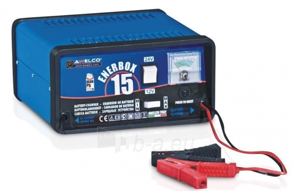 Įkroviklis automobiliniams akumuliatoriams AWELCO ENERBOX 15 Paveikslėlis 1 iš 2 310820147620