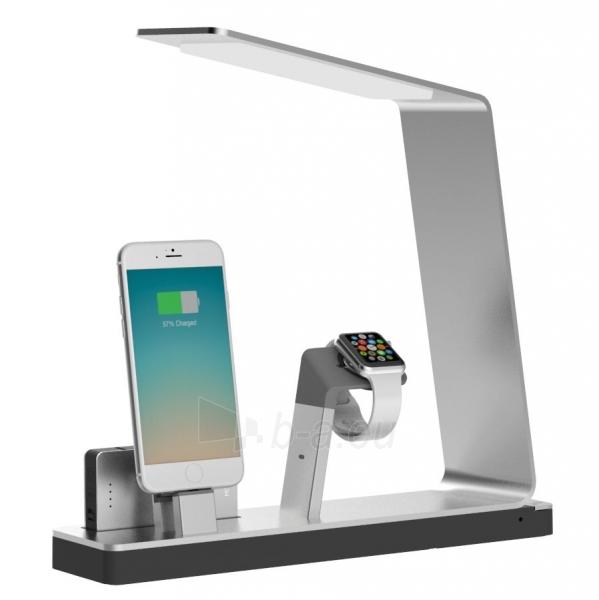 Įkrovimo stotis MiTagg NuDock Power Lamp Station for smartphones and apple watch Paveikslėlis 1 iš 1 310820013065