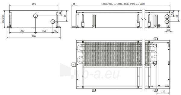 Įleidžiamas grindinis konvektorius FC 500x42x15 Paveikslėlis 4 iš 4 310820164549