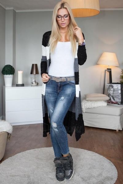 Ilgas šiltas megztinis Hyton (juodos spalvos) Paveikslėlis 1 iš 5 310820033759